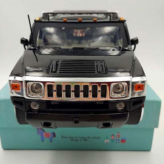 โมเดลรถเหล็ก โมเดลรถยนต์ Hummer H2 black 4