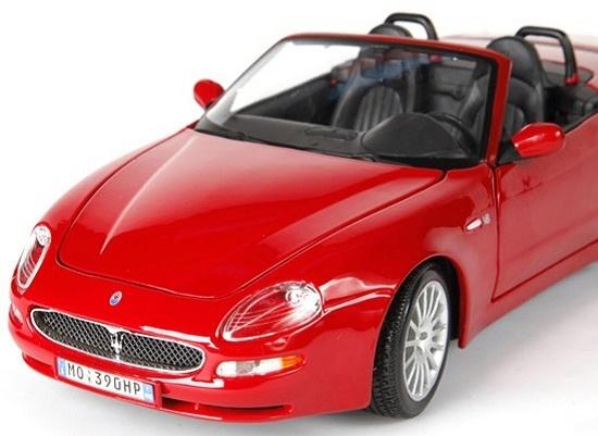 โมเดลรถ โมเดลรถเหล็ก โมเดลรถยนต์ Maserati Spyder red 4