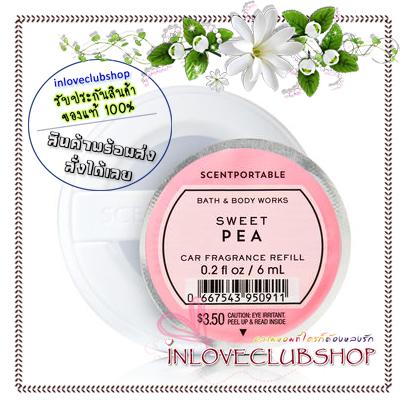 Bath & Body Works - Slatkin & Co / Scentportable Refill 6 ml. (Sweet Pea) *ขายดี