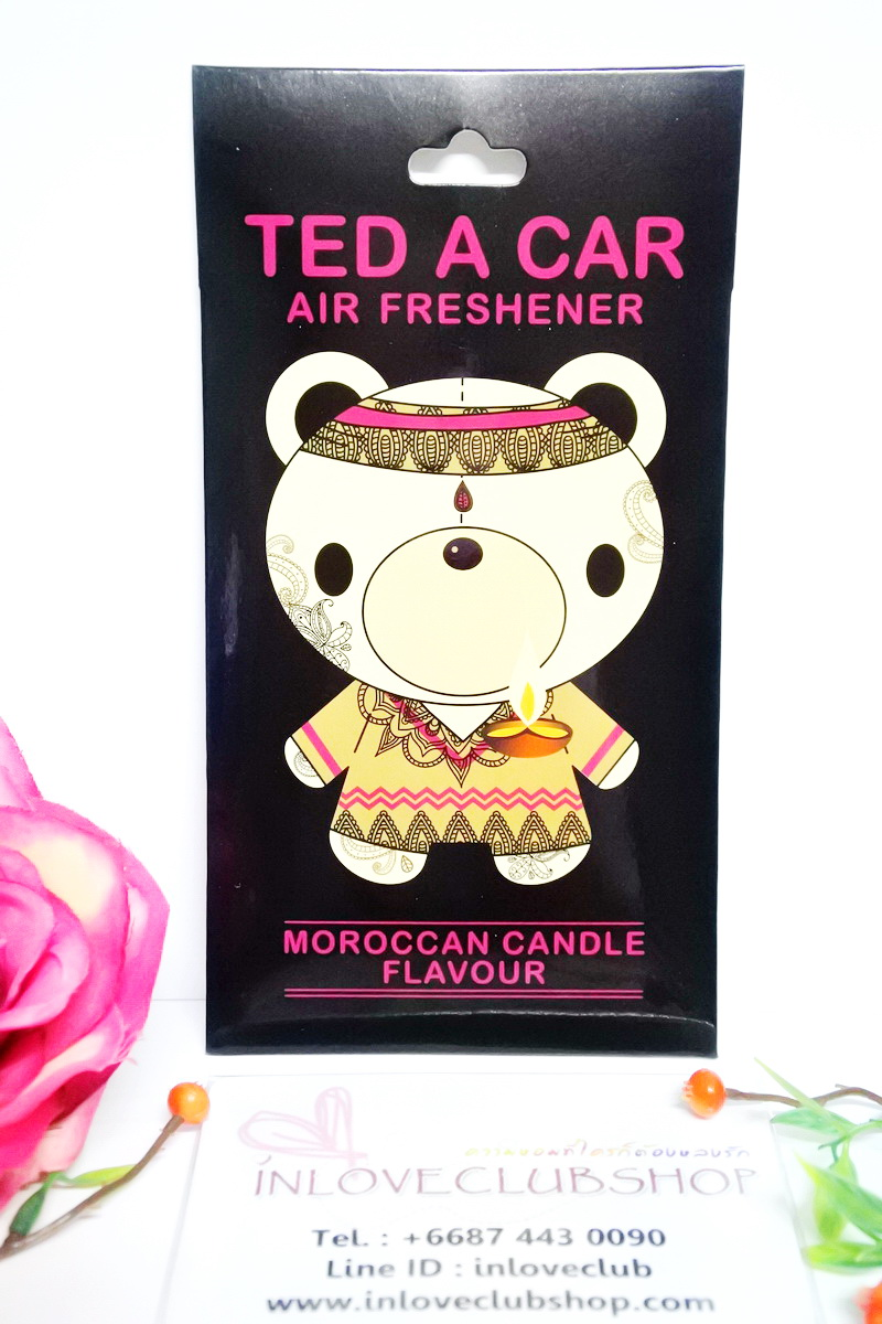 Ted A Car / Air Freshener (Moroccan Candle)