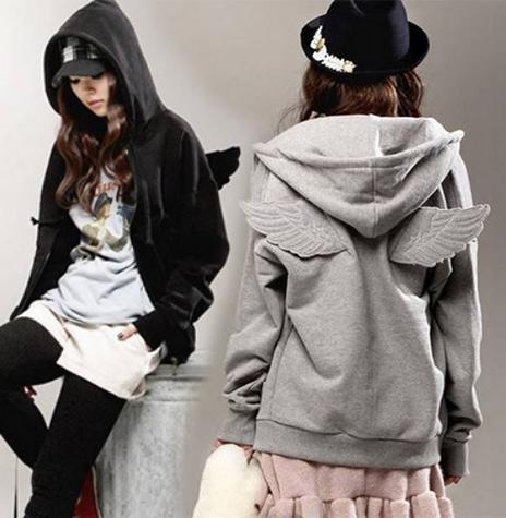 เสื้อกันหนาว ฮูดดี้ มีปีก เกาหลีสุดๆ น่ารัก เลือกสีที่พร้อมส่งด้านในเลยค่ะ