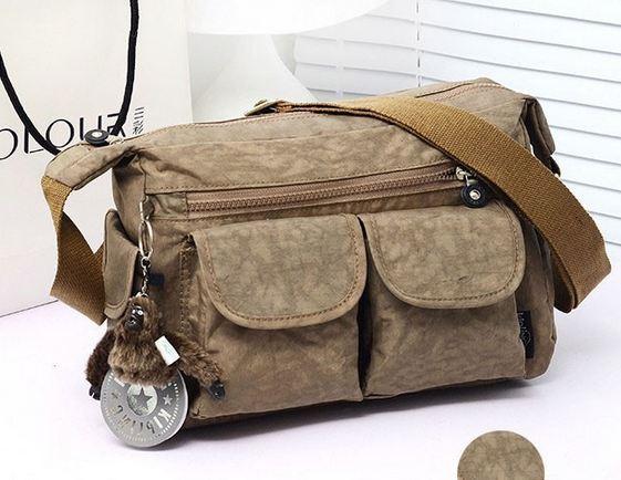 กระเป๋าสะพายข้าง ผู้หญิง ผ้าไนลอน กันน้ำ ทรงสี่เหลี่ยม ขนาดกำลังดี ไม่เทอะทะ ใส่ของได้เยอะ แนว Sport สีน้ำตาล รุ่นยอดนิยม 390952_2