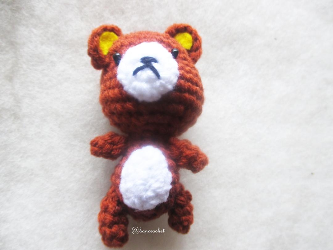 พวงกุญแจคุมะถัก rilukkuma amigurumi crochet