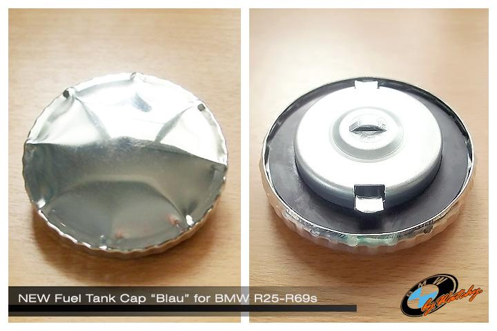 """ฝาถังน้ำมันของใหม่ ทรงจีบ(อลูมิเนียม) ของ """"Blau"""" แท้ๆ สำหรับ BMW R25-R69s"""