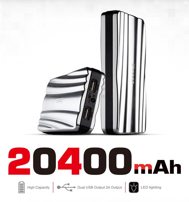 Clearance Sale! Yoobao Zeus Power Bank แบตสำรอง ความจุ 20400 mAh (ความจุเยอะที่สุด) output 2 ช่อง