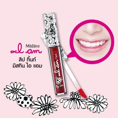 Lip Tint Mistine I am สีแดงชัด ติดทน
