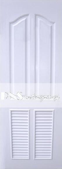 ประตู upvc รุ่น v-series บานเกล็ด PL006 ขนาด 70x200