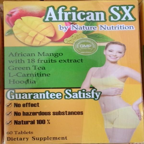 แอฟริกันเอสเอ๊กซ์ (African SX) แอฟริกันแมงโก้สูตรที่ร้านคัดเลือกมา ลดน้ำหนัก กระชับสัดส่วน เผาผลาญไขมัน ช่วยเพิ่มพลังงาน สูตรนี้ไม่มีคาเฟอีน 1 กล่อง มี 60 แคปซูล