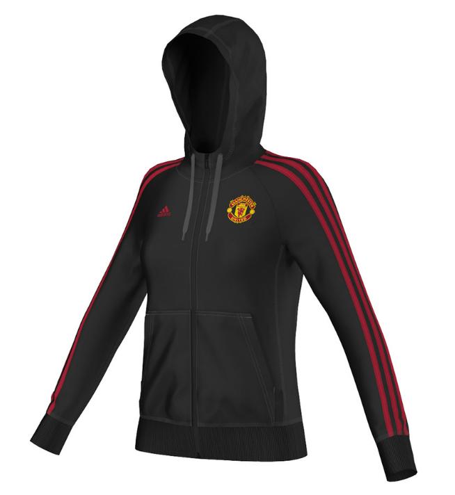 เสื้อฮู้ดแมนเชสเตอร์ ยูไนเต็ดของแท้ สำหรับสุภาพสตรี Manchester United Core Full Zip Hoody - Womens Black