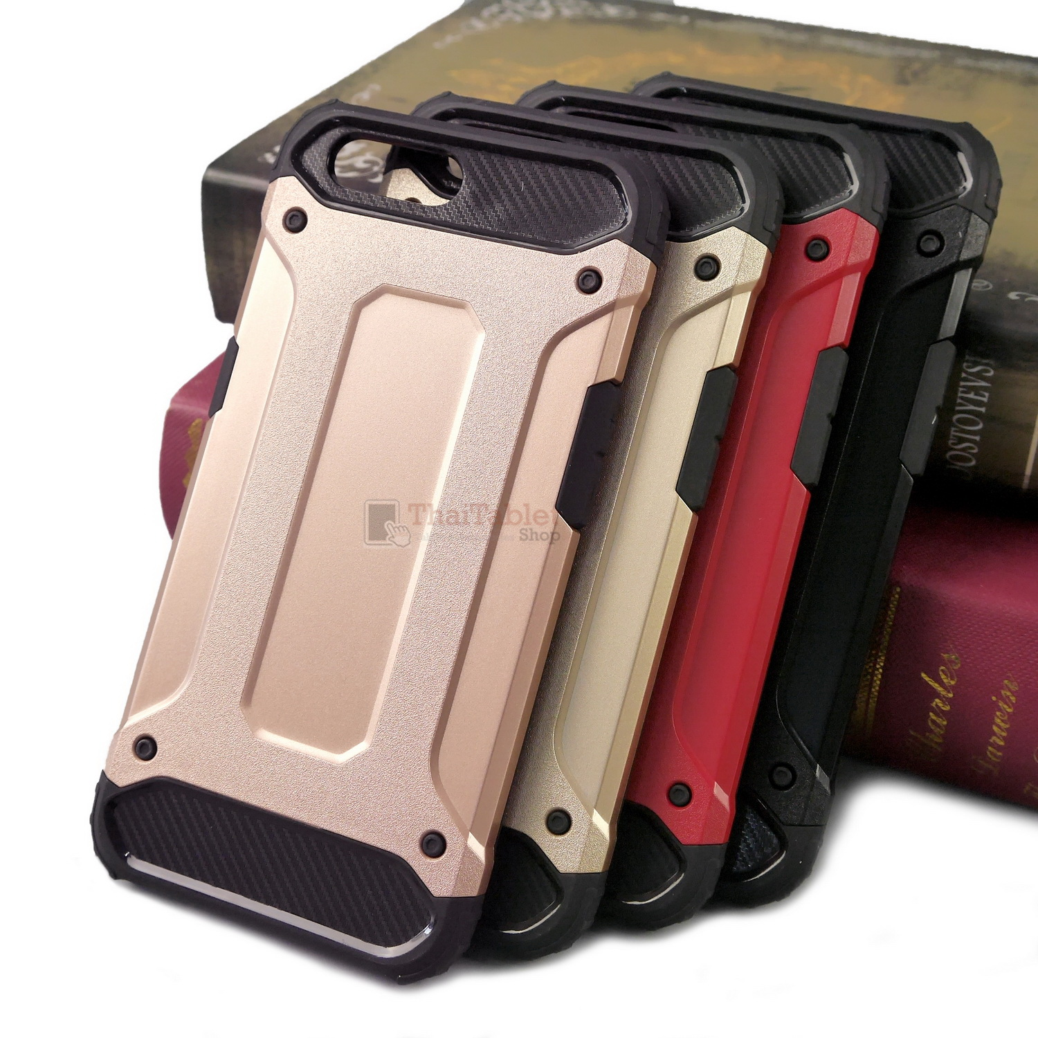 Rugged Hybrid Dual Layer Armor Case Cover For OPPO R11