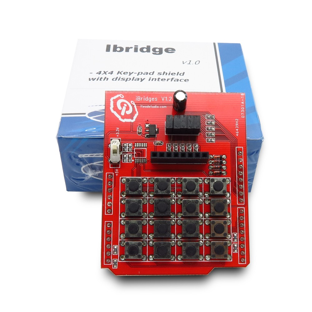 IBridge Shield (4X4 Key-Pad with Display Interface)