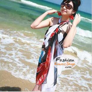 ผ้าคลุมชายหาด : สีผสมโทนอ่อนสลับเข้ม AB0016