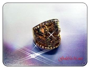 แหวนมังกรเพชรข้าง gold plated 0.5microns