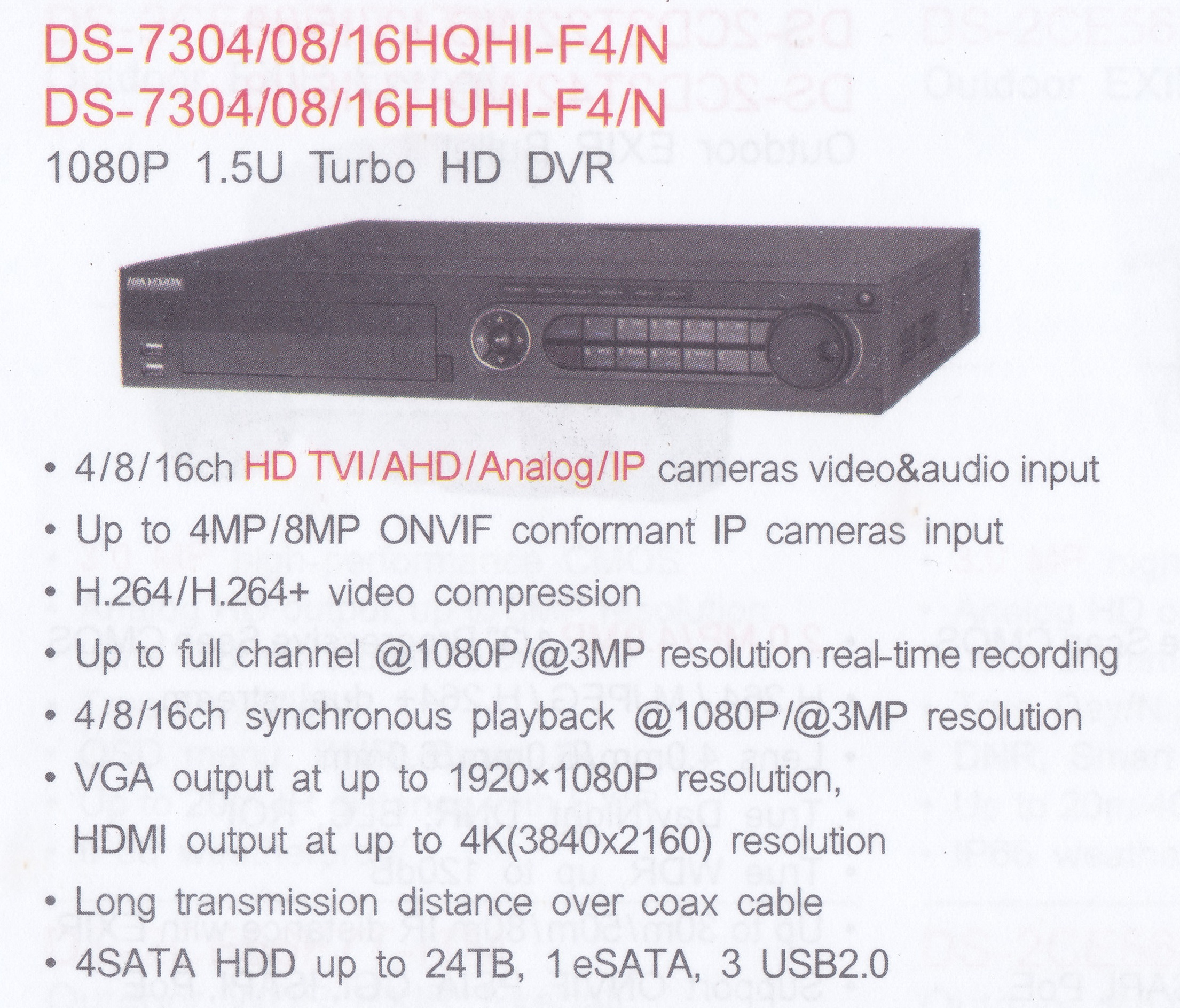 DS-7304 08 16HQHI-F4N
