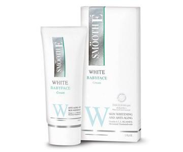 SMOOTH E WHITE BABY FACE CREAM 0.4oz คืนความขาวอันอ่อนเยาว์แก่ผิวพรรณ ลดเลือน ริ้วรอย ให้ผิวหน้าเนียนนุ่ม กระชับ