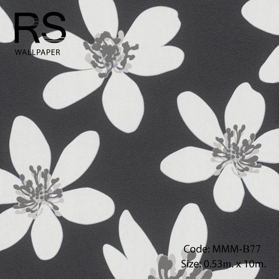 วอลเปเปอร์ลายดอกไม้ MMM-B77