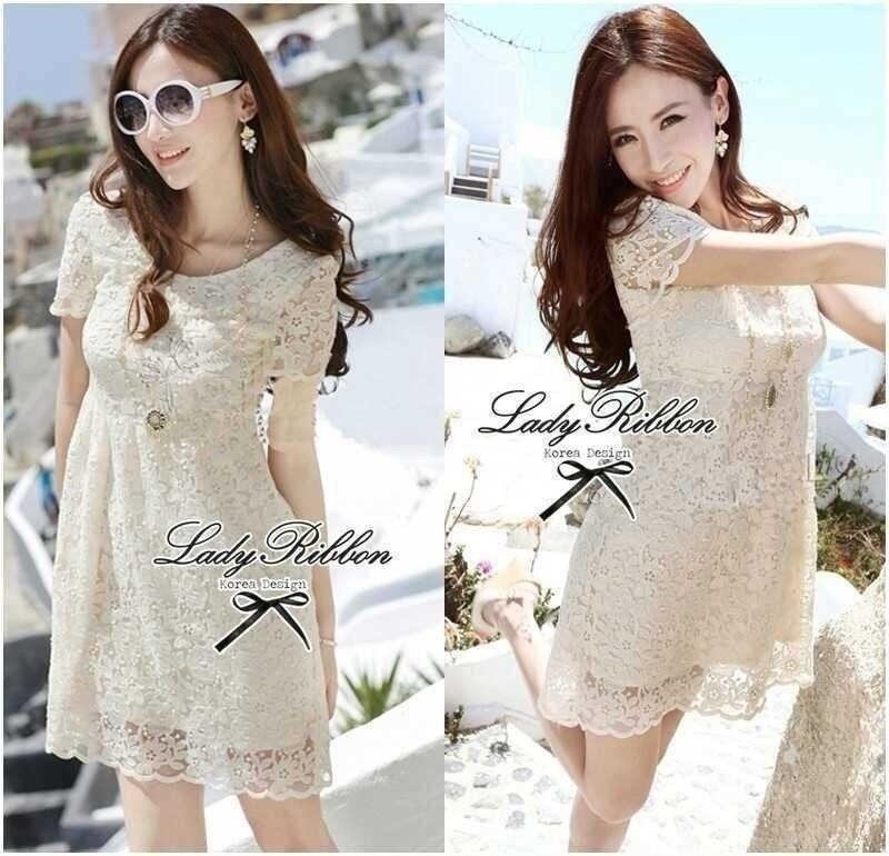 Lady Ribbon's Made In Full Bloom Sweet Honey Lace Dress