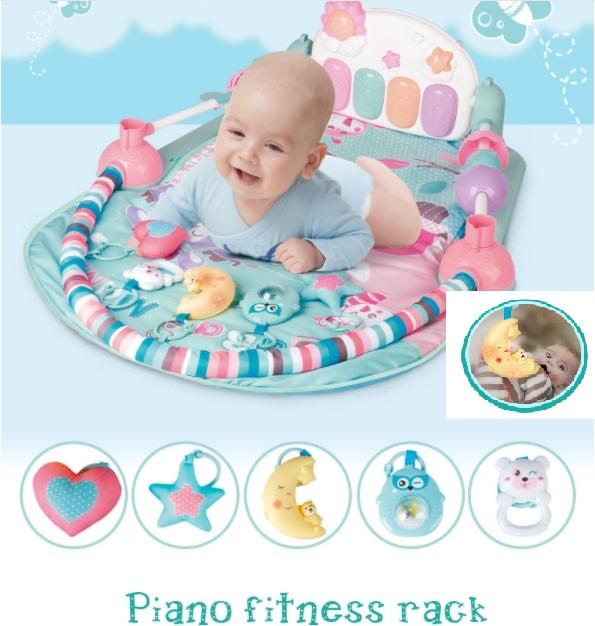 เพลยิมเปียโน baby bell สีพาสเทล ของแท้ มีราวของเล่นด้านข้าง ส่งฟรี