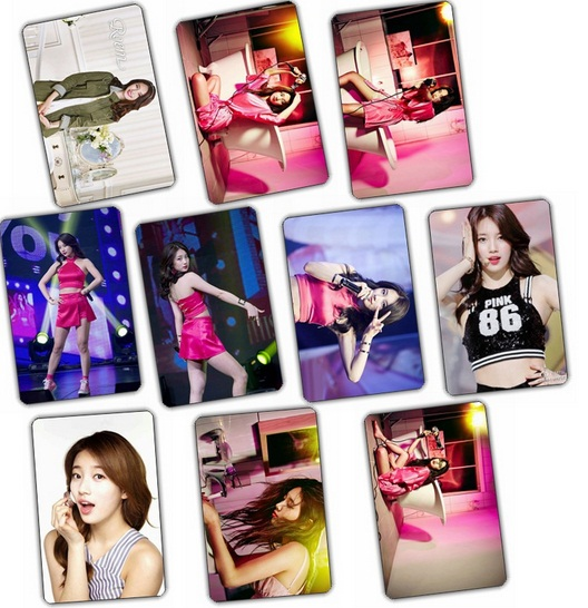 สติ๊กเกอร์ PVC กันน้ำ เซตละ 10 ใบ - Suzy MISS A