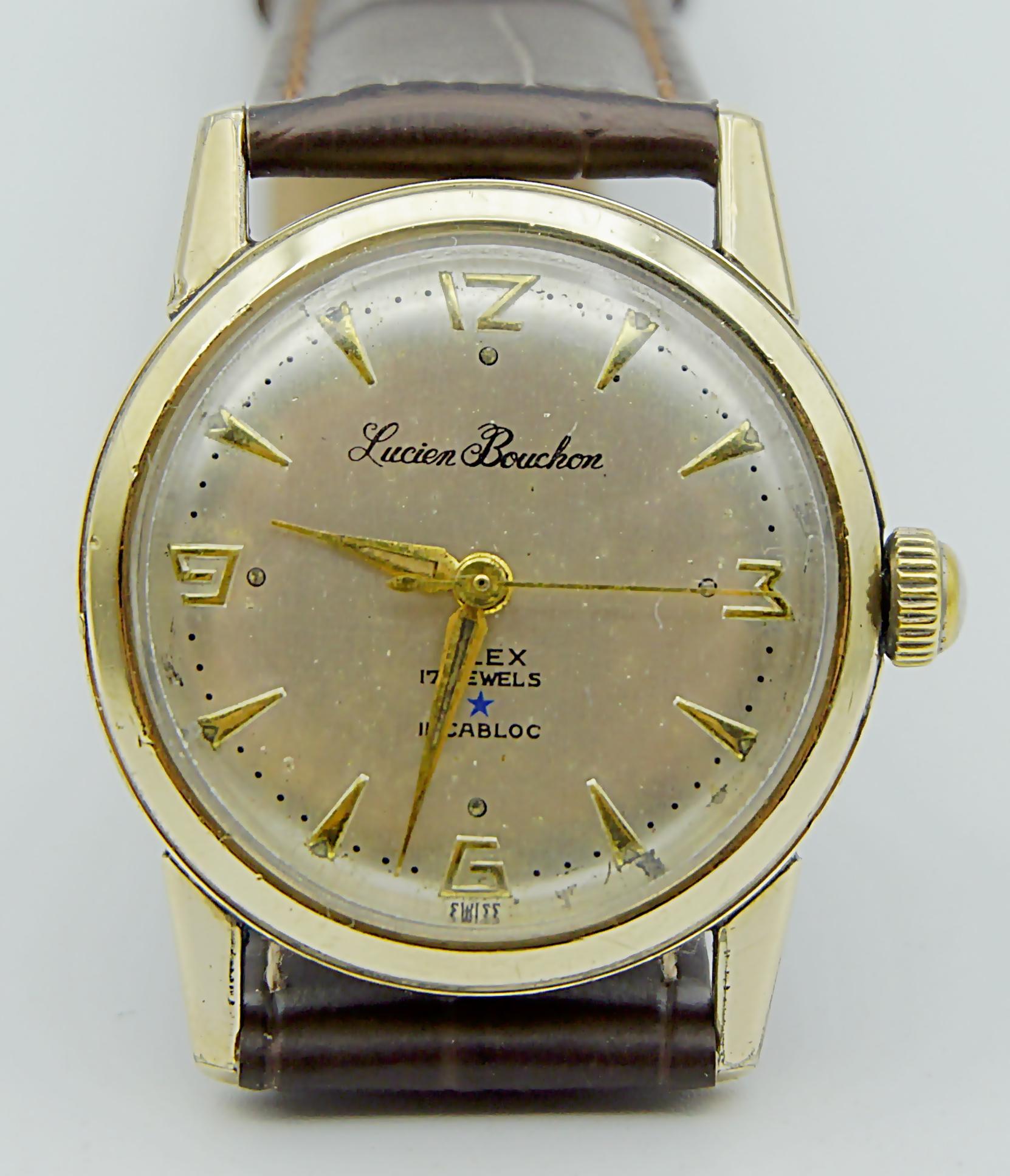 นาฬิกาเก่า LUCIEN BOUCHON ไขลาน