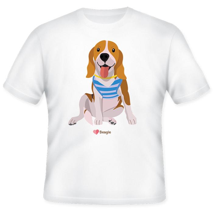 เสื้อยืดพิมพ์ลายบีเกิล (Beagle Lover T-Shirt)