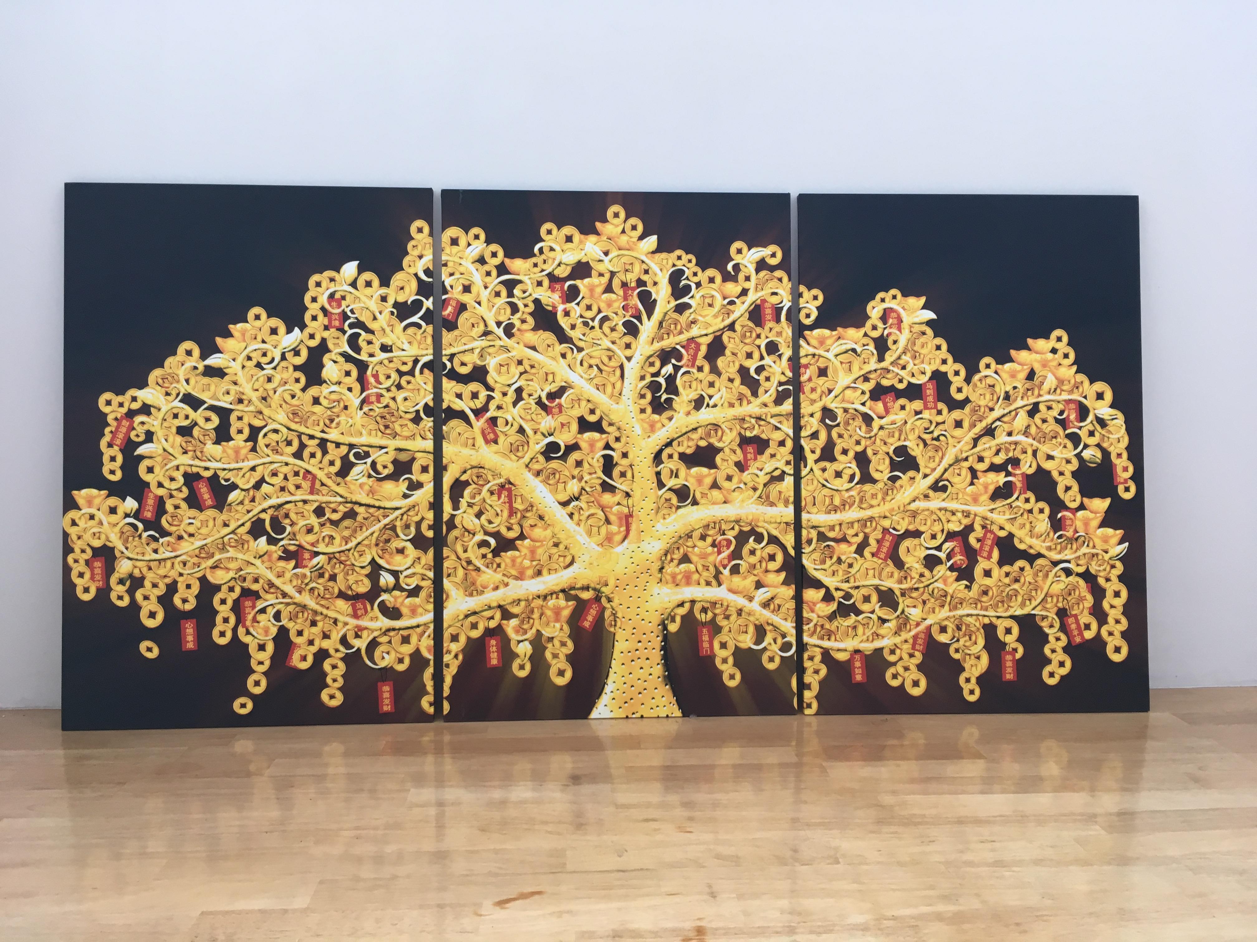 Arthome223 ต้นไม้ทองโชคลาภ เหรียญจีนโบราณ