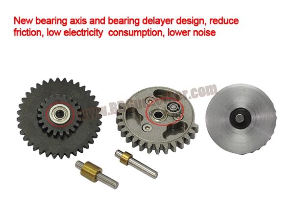 ชุดเฟืองเหล็ก CNC Bearing Gear 16:1 Super Shooter