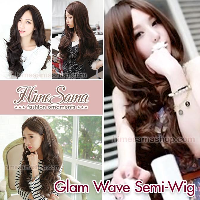 Glam Wave Semi-Wig วิกครอบหัวแบบผมลอน