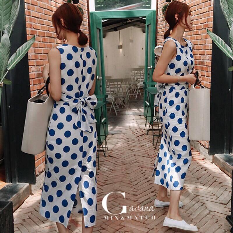 Polka dot korea dress
