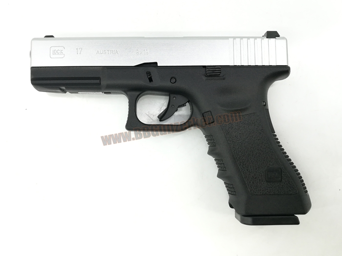 R17 : Glock17 Gen3 ทูโทน ดำ/เงิน - ARMY Armament