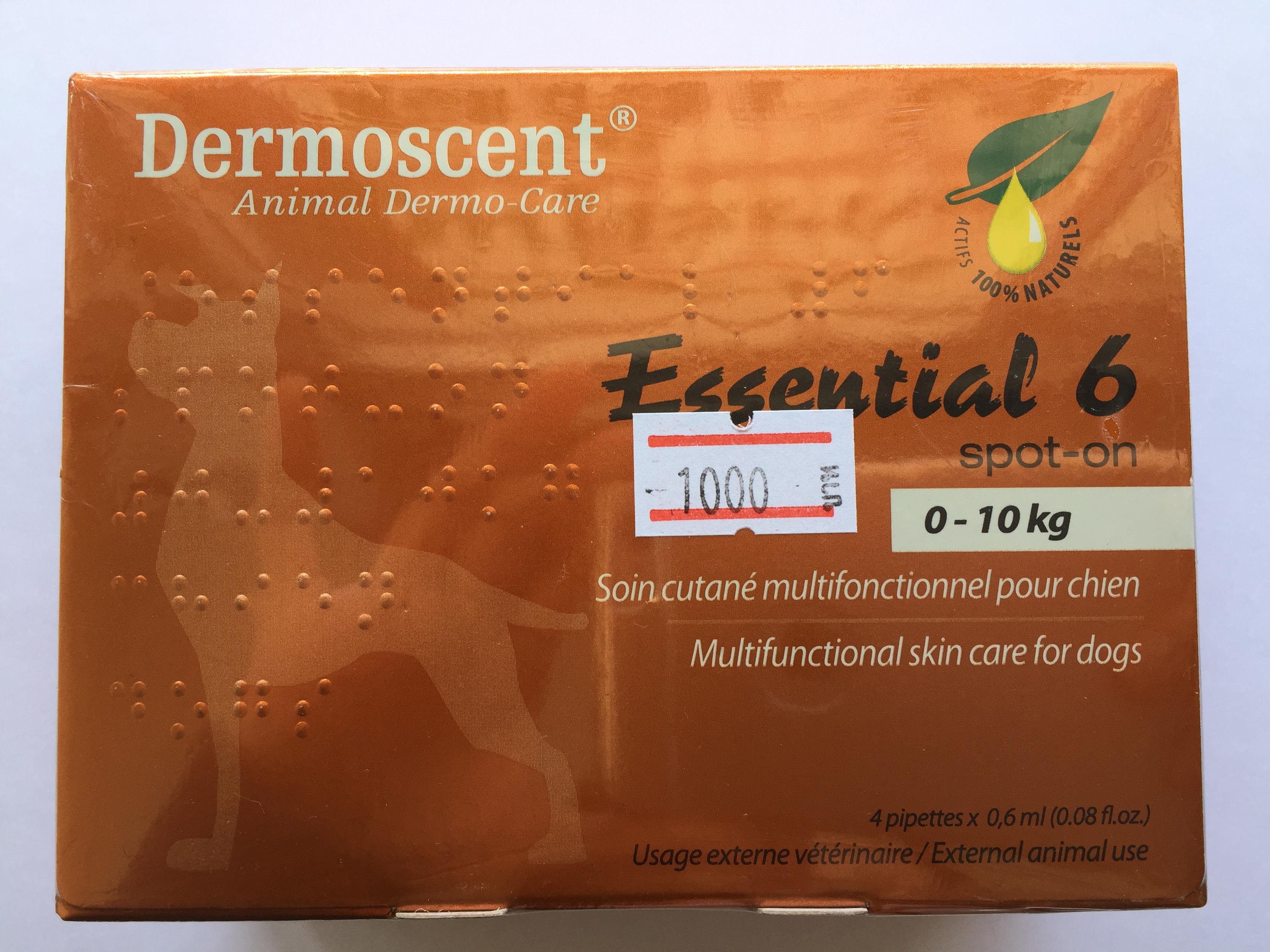Dermoscent Essential 6 สำหรับสุนัข น้ำหนัก 0-10 kg.Exp.06/19