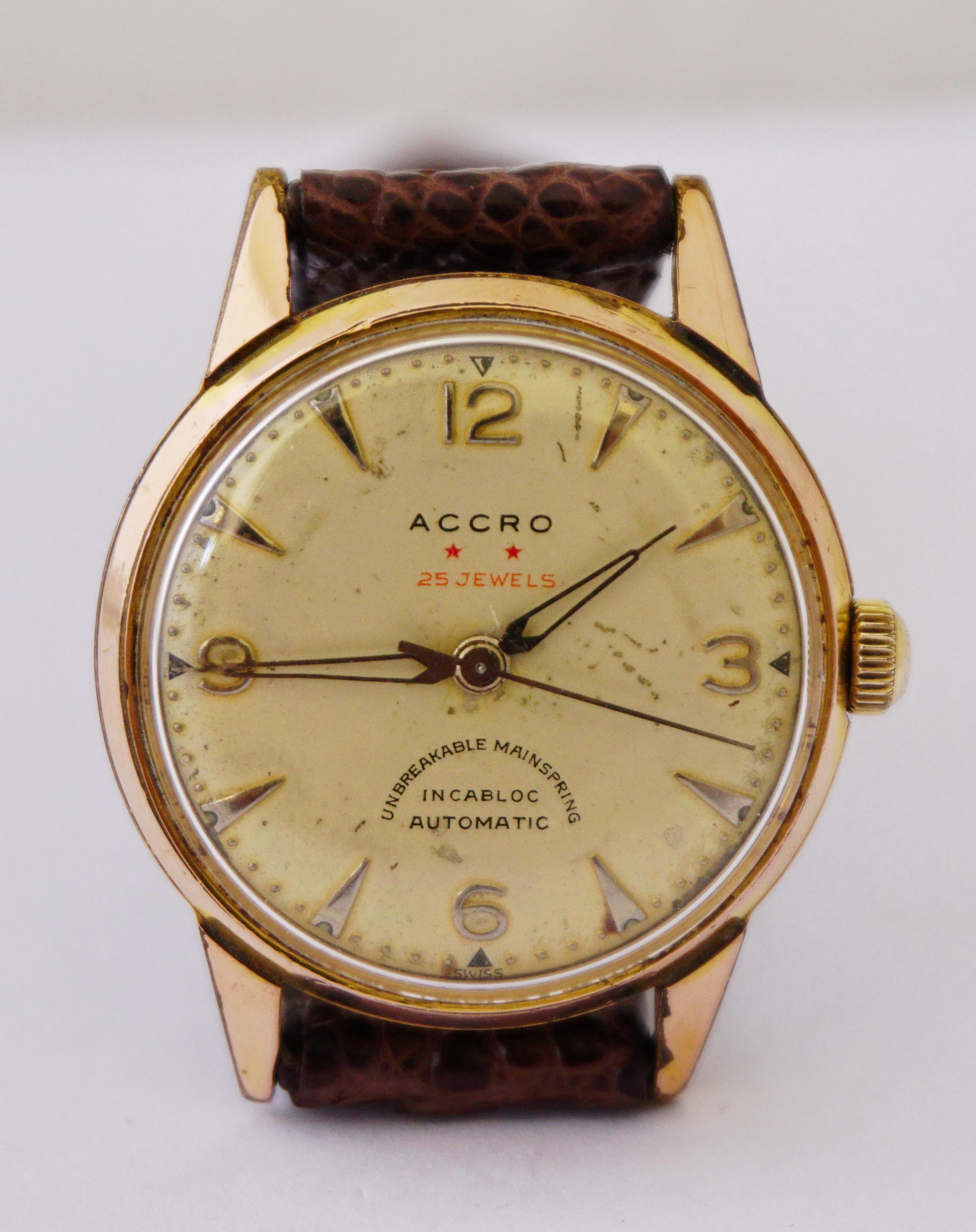 นาฬิกาเก่า ACCRO ออโตเมติก