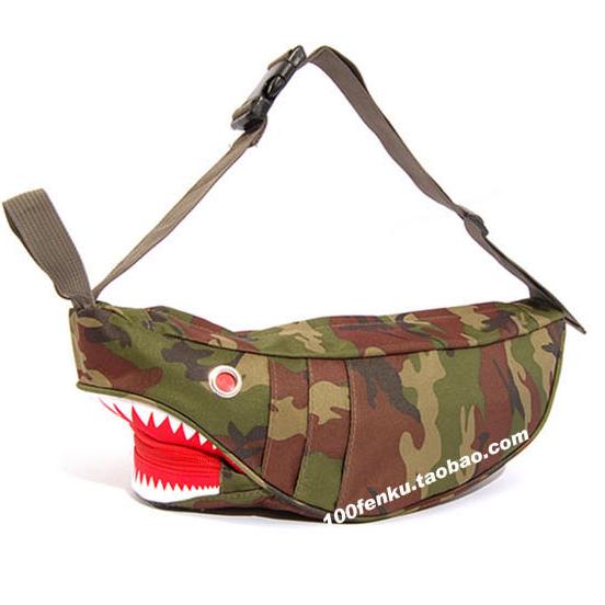 พร้อมส่ง!!! fashion กระเป๋าสะพายไหล่ รุ่น ฉลาม สีลายพราง