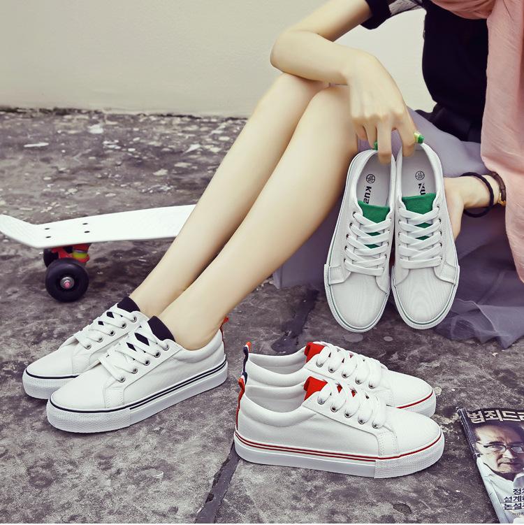 fashion รองเท้าผ้าใบหญิง สไตล์เกาหลี รหัส 1037 (รอสินค้า 15-20วัน)