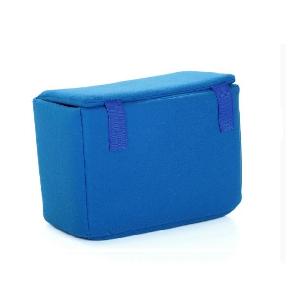กระเป๋านวมในกระเป๋ากล้อง สีฟ้า