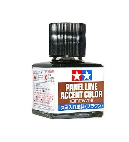 Tamiya Panel Line Accent Color ฺBROWN 40ml