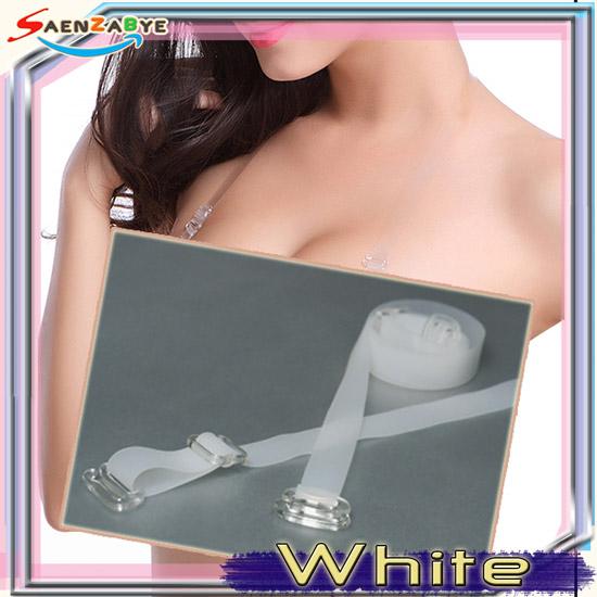 สายเสื้อในซิลิโคน สีขาว