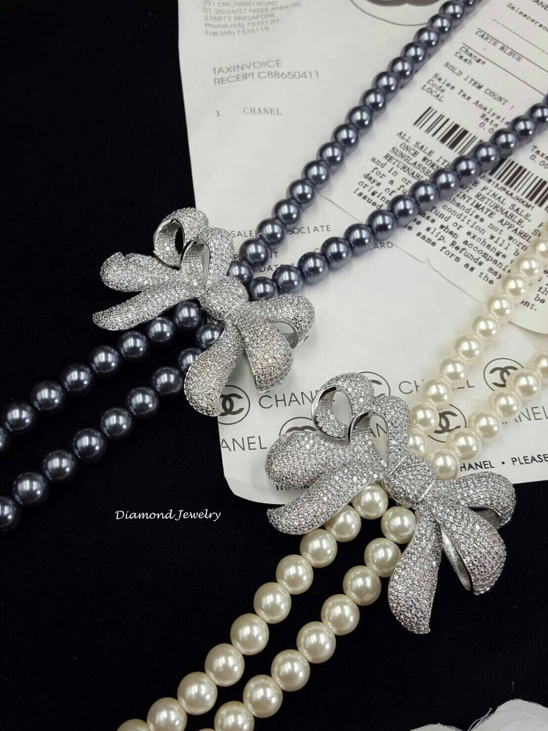เสื้อผ้าเกาหลี พร้อมส่งPearl Necklace รุ่นนี้เป็นงานมุกญี่ปุ่นเกรดดี
