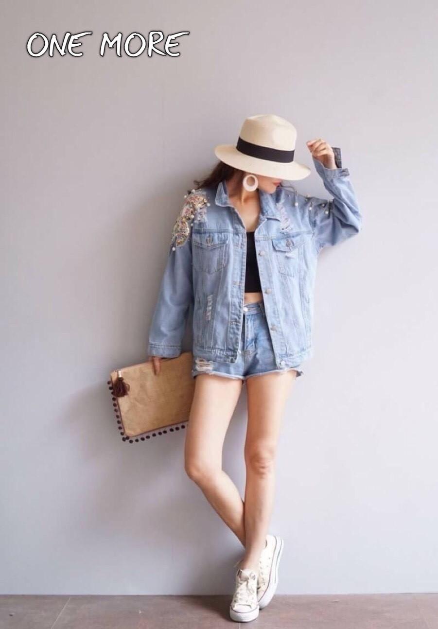 เสื้อjacket jeans งานสวยมาก