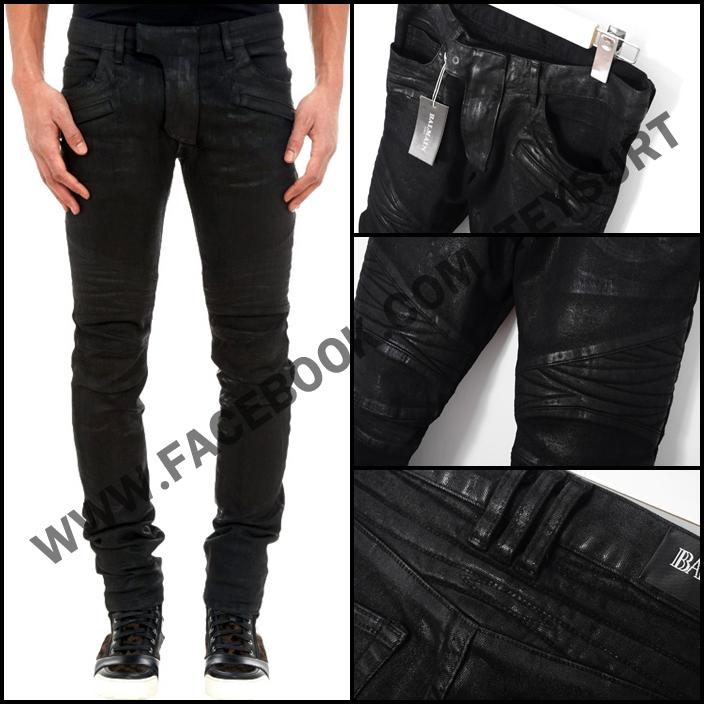 กางเกงBalmain Motowax Biker Jeans