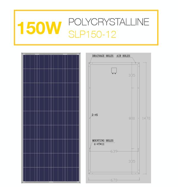 แผงโซล่าเซลล์ Solar Cell 150W Poly