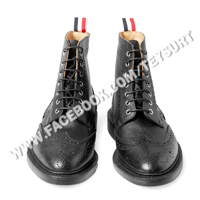 รองเท้าThom Browne Scoth Grain Wingtip Boots