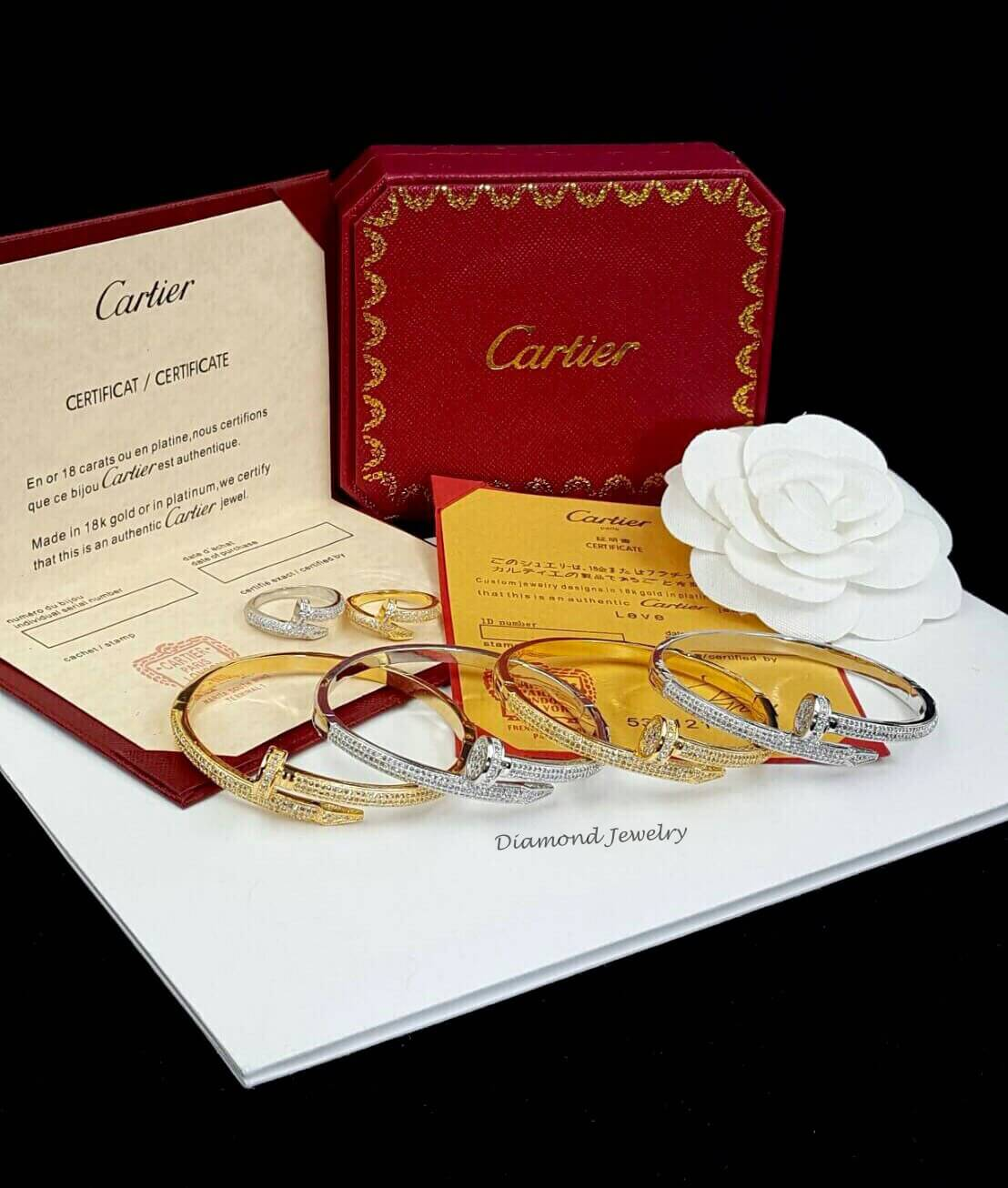พร้อมส่ง Cartier Bracelet รุ่นตะปูพันรอบเดียวงานเกรดจิวเวอรี่