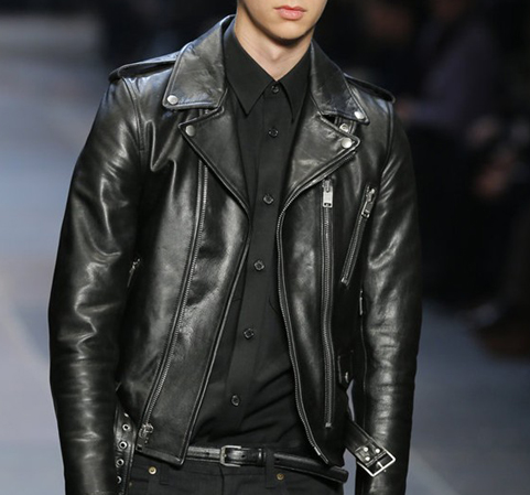 เสื้อแจ็คเก็ตSaint Laurent Leather Jacket Lamskin 1:1