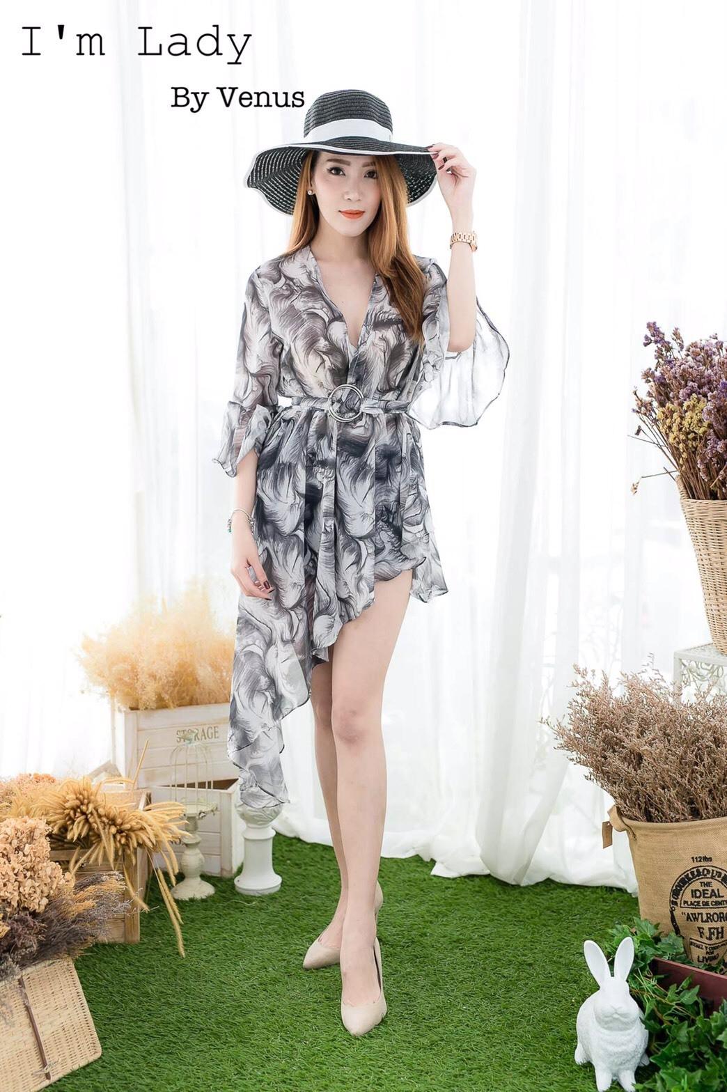 เสื้อผ้าเกาหลีพร้อมส่ง เสื้อซีฟอง ดีเทลน่ารักมาก