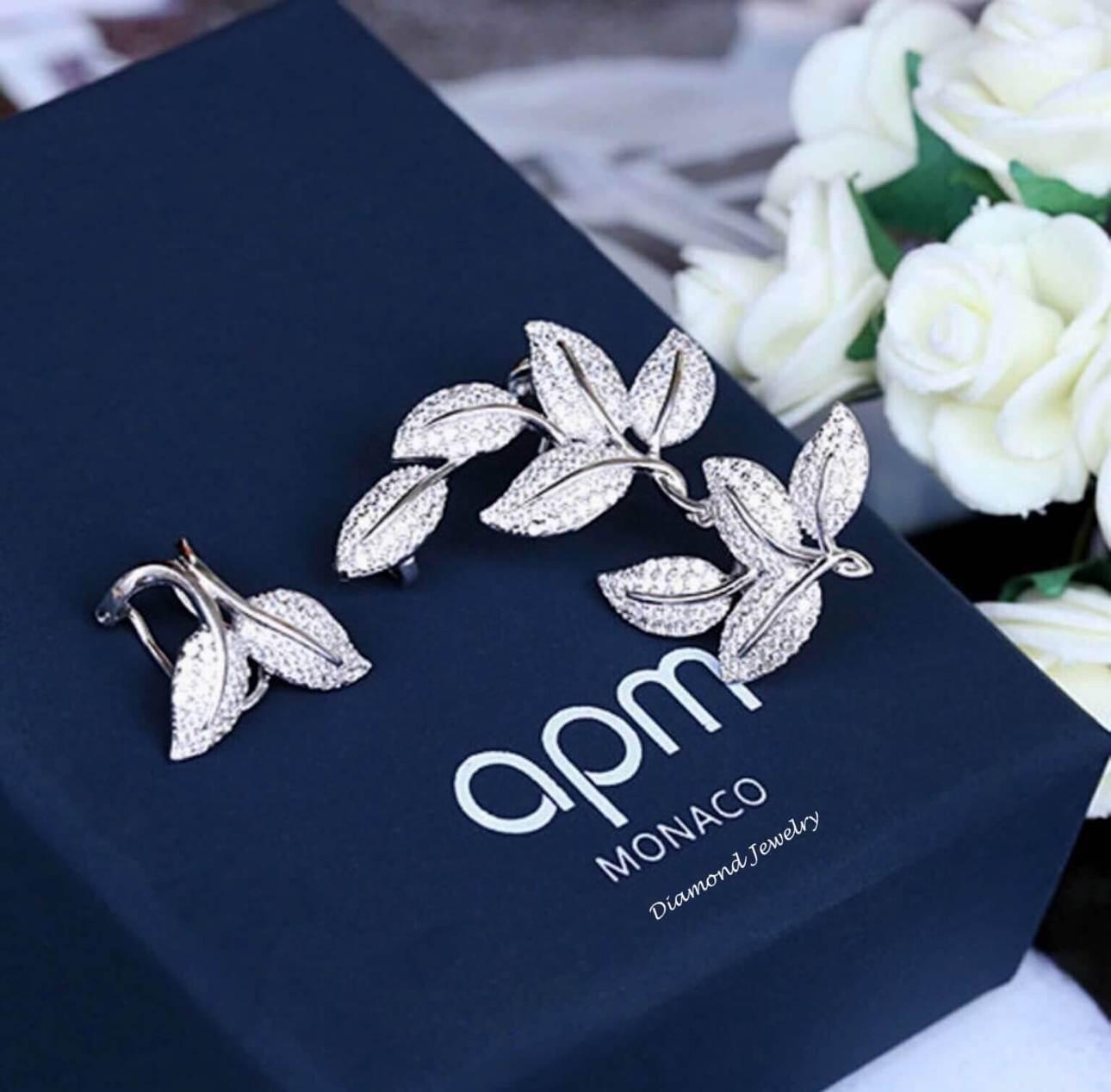 พร้อมส่ง APM Diamond Earring งานเพชร CZ แท้