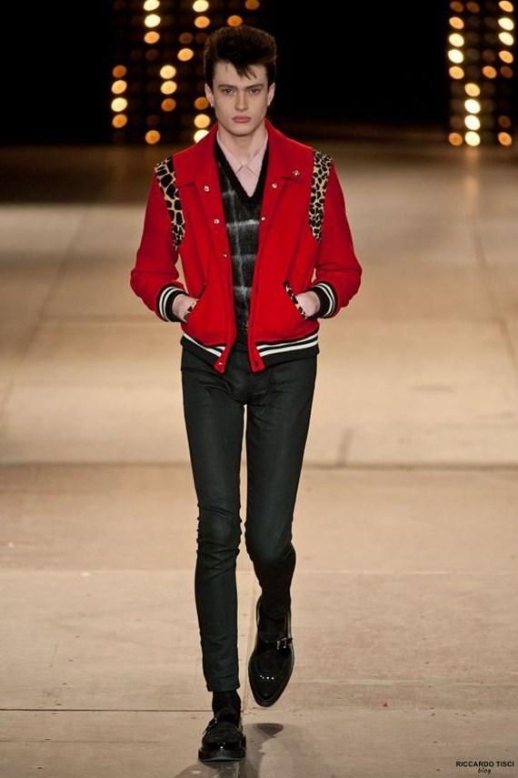 เสื้อแจ็คเก็ตSaint Laurent Leopard Ponyskin Wool Bomber Jacket 1:1
