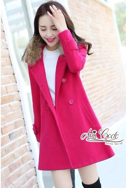 Coat Overcoat Winter fur