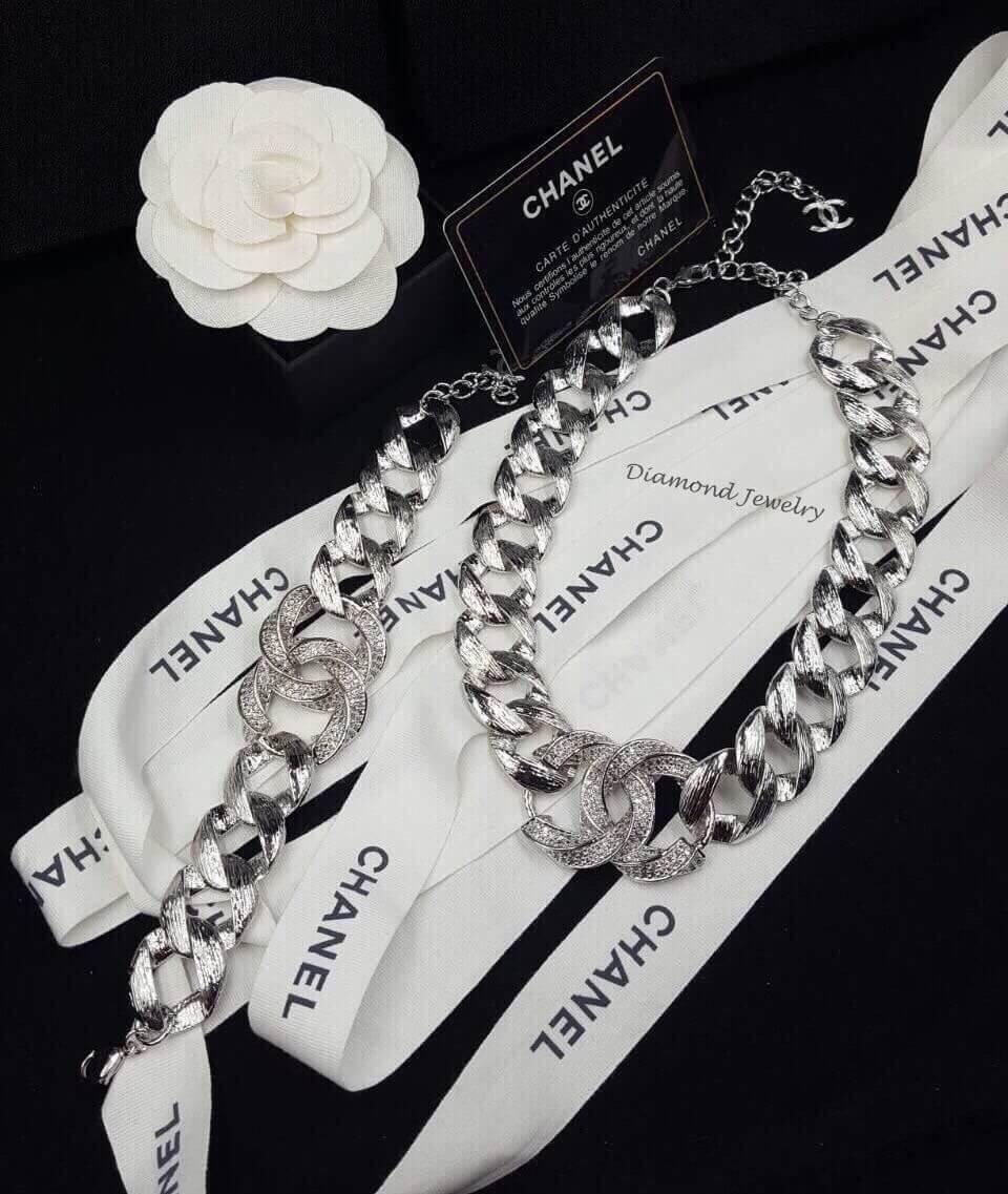 พร้อมส่ง Chanel Bracelet & Necklace สร้อยข้อมือชาแนล + สร้อยคอชาแน