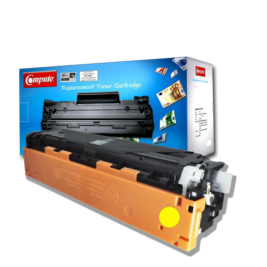 ตลับหมึกเลเซอร์ (Toner Cartridge) คอมพิวท์ For HP 304A/ CC532A Yellow